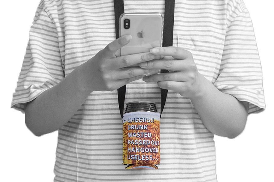 ネックストラップ缶クージー